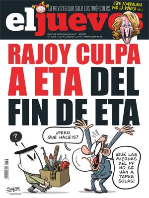 Rajoy culpa a ETA del fin de ETA